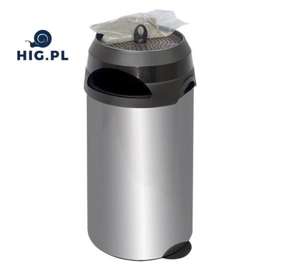 Kosz na śmieci z popielniczką HiG
